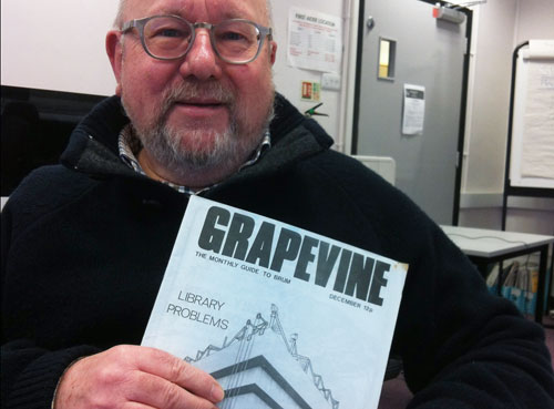 Brian Homer and the Central Library edition of Grapevine