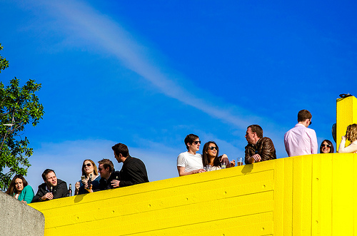 Hipsters flock to yellow brutalism
