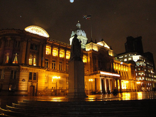 Victoria Square at Night