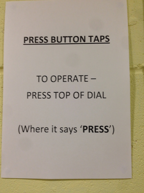 You simply must: press top of dial (where it says 'press')