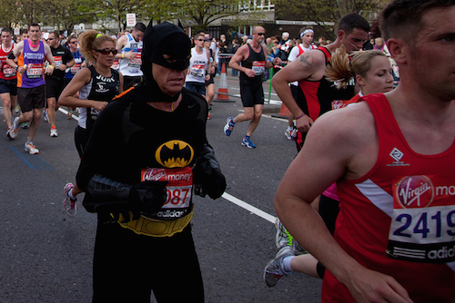 Batman at the London Marathon