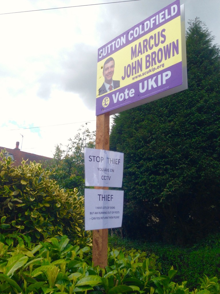 UKIP sign board