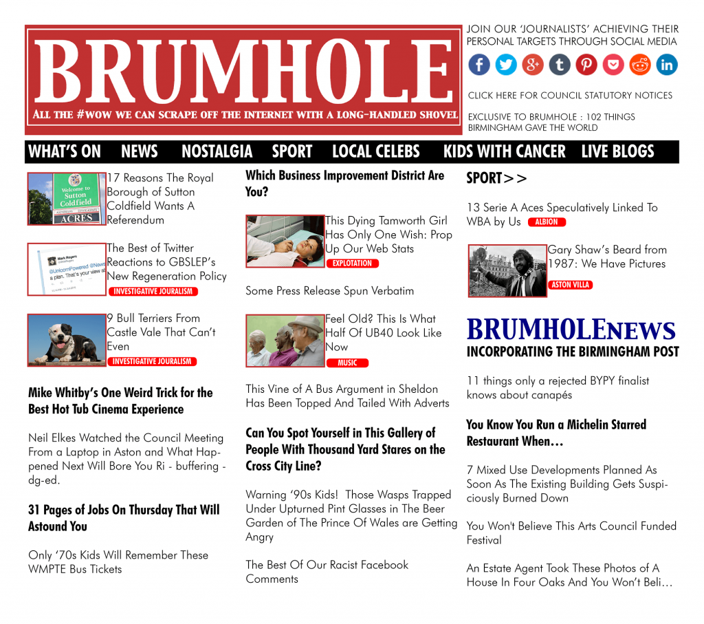 BRUMHOLE All the #wow we can scrape off the internet with a long-handled shovel
