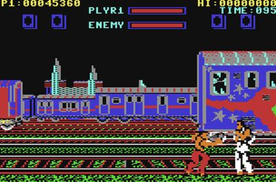 This is Street Fighter I, on C64. This was set at Witton Station.