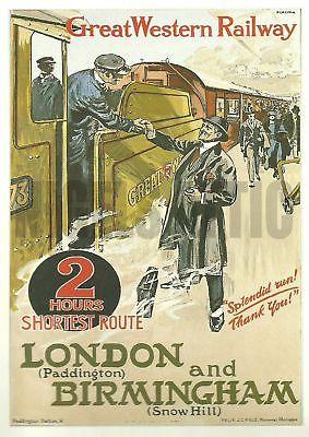 London to Birmingham by train!