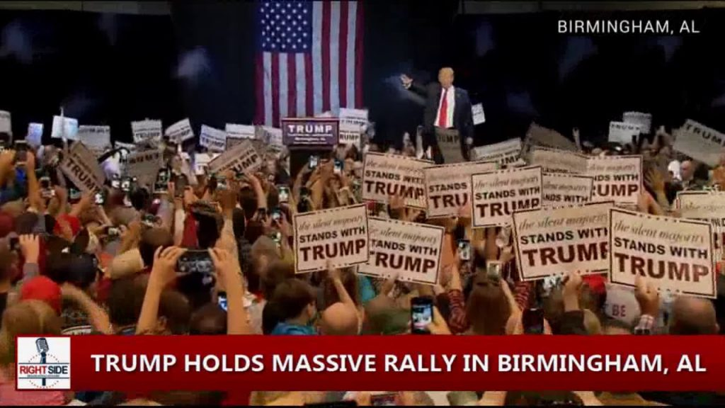 A Trump rally. It's in Birmingham, Al.
